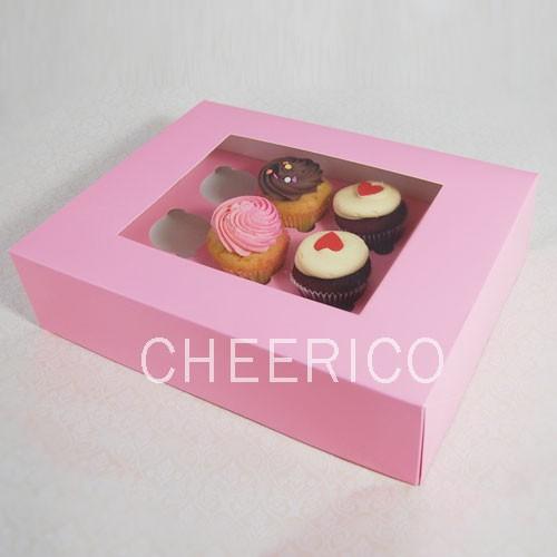 12 Pink Cupcake Window Box ($2.80/pc x 25 units)