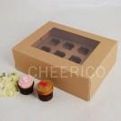 12 Kraft Cupcake Window Box ($2.80/pc x 25 units)