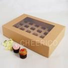 24 Kraft Brown Window Cupcake Box ($4.50pc x 25 Units)