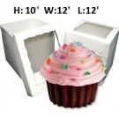 "Giant Cupcake Window Box - 12"" x 12"" x 10"" ($4.50/pc x 25 units)"