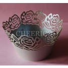 Silver Roses Cupcake Wrappers - 12units/pack