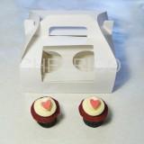 4 Cupcake Window Box with Handle( $1.50/pc x 25 units)