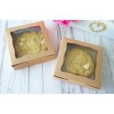 Kraft Macaron Cookies Boxes 10x10x3cm ($2.00 X 12 units)